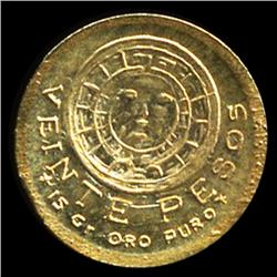 1959 Mexico Aztec Mini Gold Coin 8k (COI-9734)