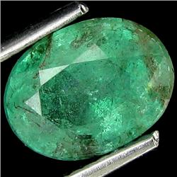 1.89ct Natural Mint Green Zambian Emerald Oval (GEM-25829)
