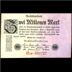 1923 Germany 2m Mark Note Hi Grade (COI-3898)