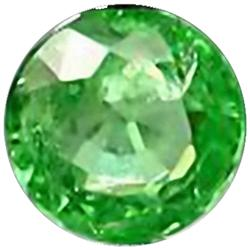 2mm Round Cut Top AAA Green Garnet Tanzania (GMR-0347)