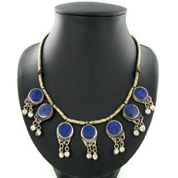 265ct Vintage Tibet Lapis Nickel Necklace (ANT-1571)