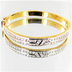 98.9twc Lab Diamond Gold Vermeil Bracelet (JEW-3533)