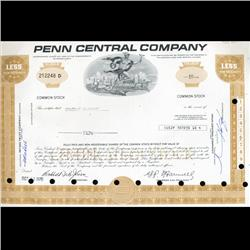 1970s Penn Central Stock Certificate Scarce (CUR-06410)