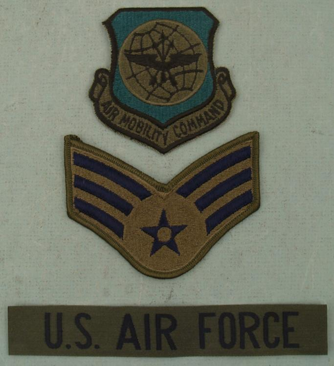3 US Air Force USAF Patches Mobility Command Wings Loading Zoom