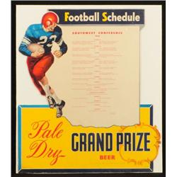 Grand Prize Beer 1950 SWC Football Sign Texas