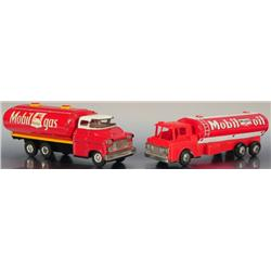 2 Mobil Oil Toy Tankers Japanese Friction Mint