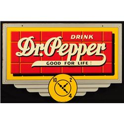 Dr. Pepper Red Brick Die-Cut Sign Near Mint NOS