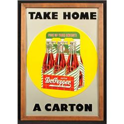 "Dr Pepper ""Take Home A Carton"" Sign"