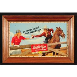 Dr Pepper Advertising Poster Cowboy 1940s