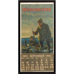 1920 Winchester Gun Advertising Calendar Model 12