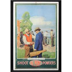 1915 Dupont Powders Advertising Poster Skeet