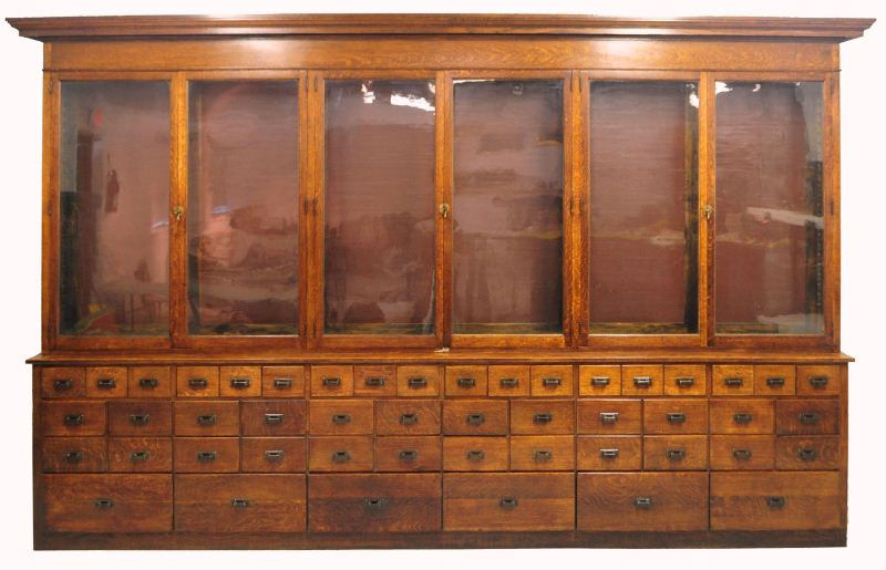 Oak Country Store Apothecary Display Cabinet. Loading zoom - Oak Country Store Apothecary Display Cabinet