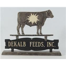 Dekalb Feed Diecast Advertising With Figural Cow