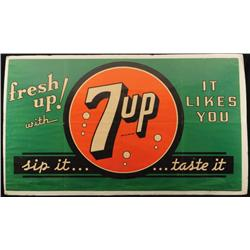 Large 7up Advertising Poster