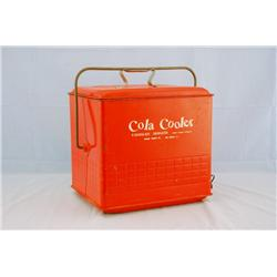 vintage cola cooler with bottle opener. Black Bedroom Furniture Sets. Home Design Ideas