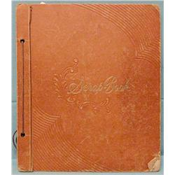 George Custer scrapbook, 50 pp. filled with numerous articles on the battle,