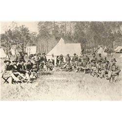 Dillingworth, William, photograph of Gen. Custer's officer and scientific corps,