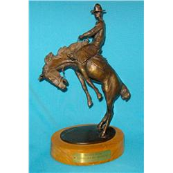 "Ralston, J. K. bronze, Topping the Broomtail #20/100, 13 ½"" h."