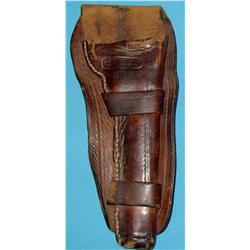 Collins, J. S., Cheyenne, WY. single action revolver holster, 1880's.
