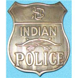 Rare Indian Police Badge ca. 1880-1895,