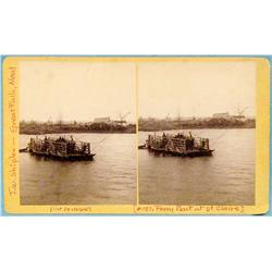 Shipler, J. W., stereo card, Ferry Boat at St. Claire, 1888 ca.