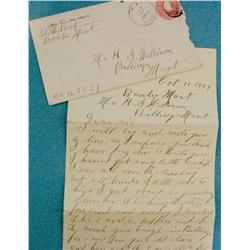 Signed letter regarding cattle business in the area of Billings, Montana