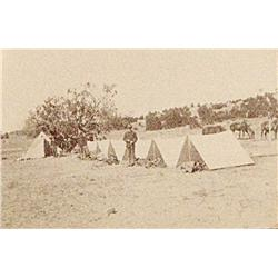 "2 mounted silver gelatin photographs, 4 ½"" x 7"", Cavalry Troopers on Maneuver at Ft. Wingate, NM"