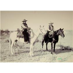 "Huffman, L. A.,Two Cowboys, contemporary photo enlargement, 30"" x 36""."
