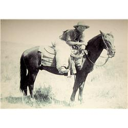 """Huffman, L. A., Honeycut on White Star, contemporary photo enlargement, 30"""" x 36""""."""