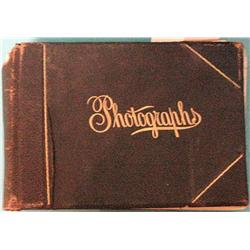 Photograph album w/21 albumin mounted photos from Canyon Ferry area,