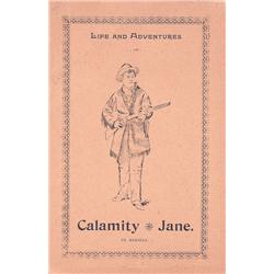 Life and Adventures of Calamity Jane, by herself, 7 pp. and