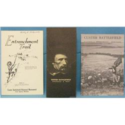 3 Custer Battlefield National Monument pamphlets dated 1959,
