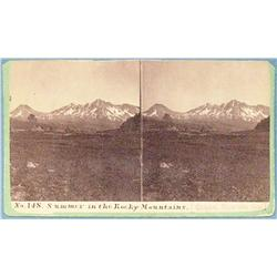 Stereo card, Calfee, H. P., Summer in the Rocky Mountains, Bozeman, M.T., 1870's ca.