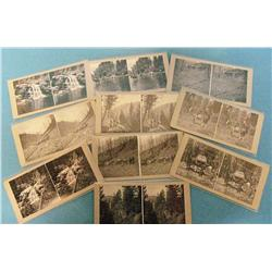Ten stereo cards of a hunting trip in Montana, 19th century, photographer unknown.