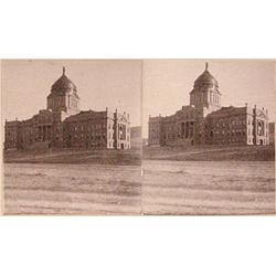 Stereo card, Mountain View Co. Capitol Building at Helena, Montana, 1899 ca.