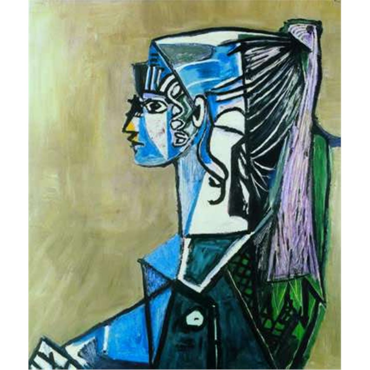 Picasso Pablo Portrait of Sylvette David signed and numbered print