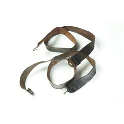 TWO CIVIL WAR-ERA RIFLE SLINGS.