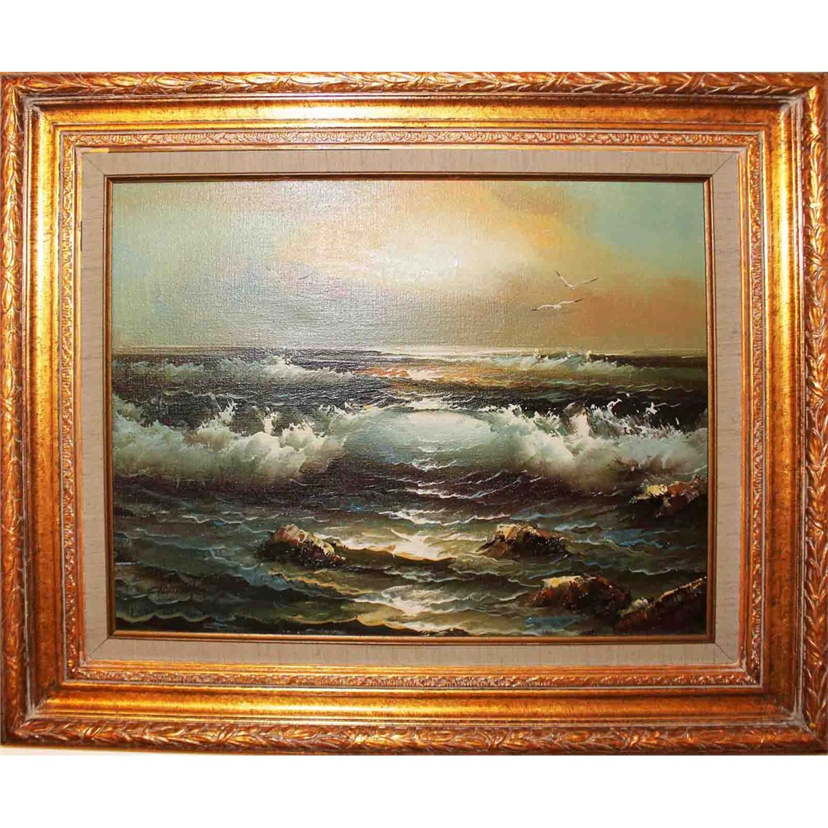 Framed Claude Terray Oil Painting