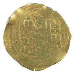 GREAT MONGOLS: Chingiz Khan, 1206-1227, AV dinar (4.53g), Khujandeh, ND