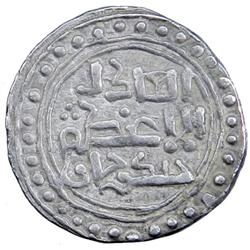 GREAT MONGOLS: Chingiz Khan, 1206-1227, AR dirham (3.11g), [Ghazna], ND