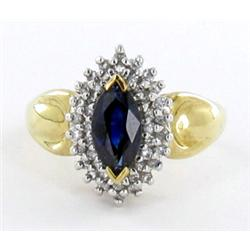 1.7ct Ceylon Blue Sapphire & Diamond 10k Ring (JEW-1506)