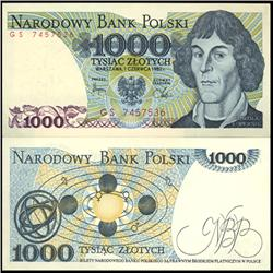 1982 Poland 1000 Zlotych Crisp Unc Note (CUR-06149)