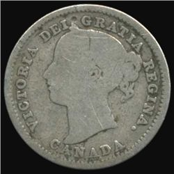 1886 Canada 10 Cent Better Grade RARE Variety (COI-7104)