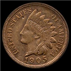 1905 Indian Cent Choice MS63 Red Brown (COI-7507)