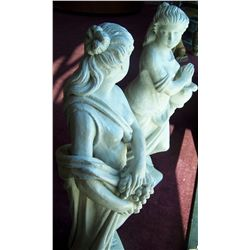 Pair of Concrete Statues