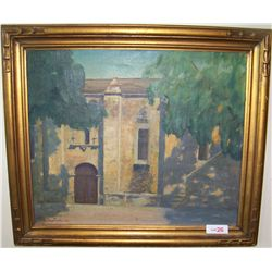 Antique Oil on Canvas. Charles Kern Fiedler 1931.