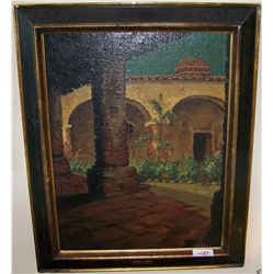 "Oil on Canvas. Doris Ortman. ""San Juan Capistrano""."