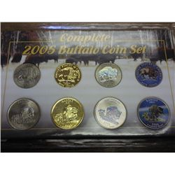 COMPLETE 2005 BUFFALO COIN SET (AS SHOWN)