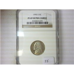 1995-S JEFFERSON NICKEL NGC PF69 ULTRA CAMEO