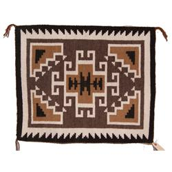 TWO GRAY HILLS NAVAJO TEXTILE